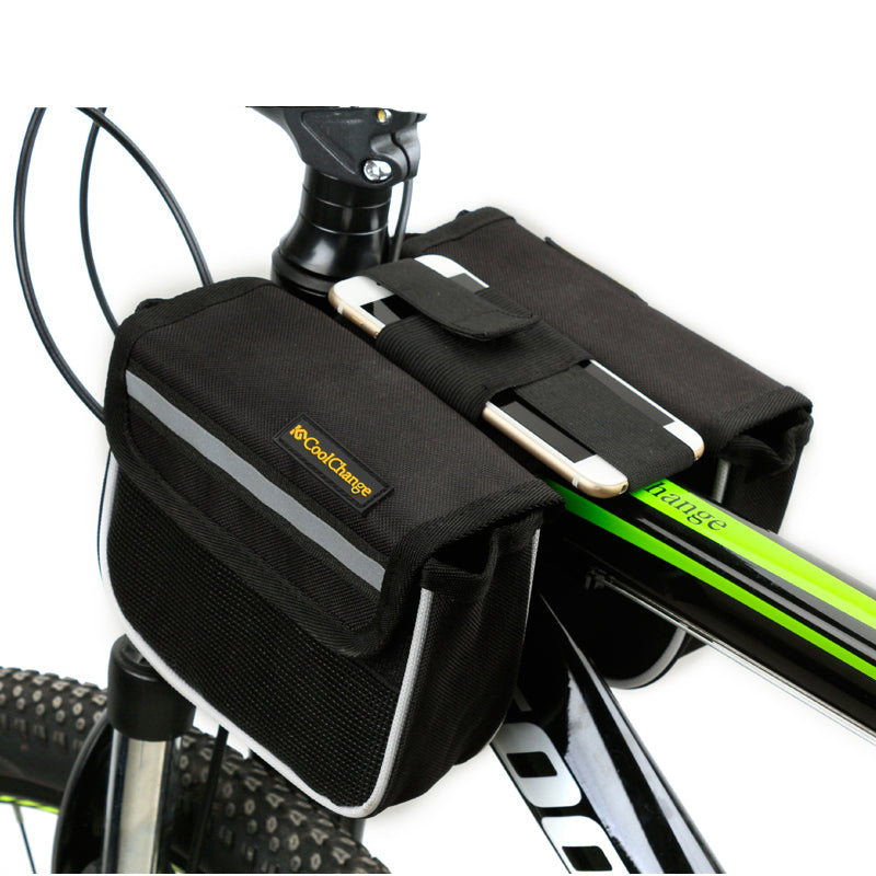 Cycling Bike Bicycle Front Frame Pannier Tube Bag Mobile Phone Accessories //+*