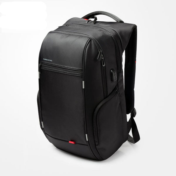 Kingsons Brand 15.6'' Men Laptop Backpack External USB Charge Antitheft Computer Backpacks Male Waterproof Bags