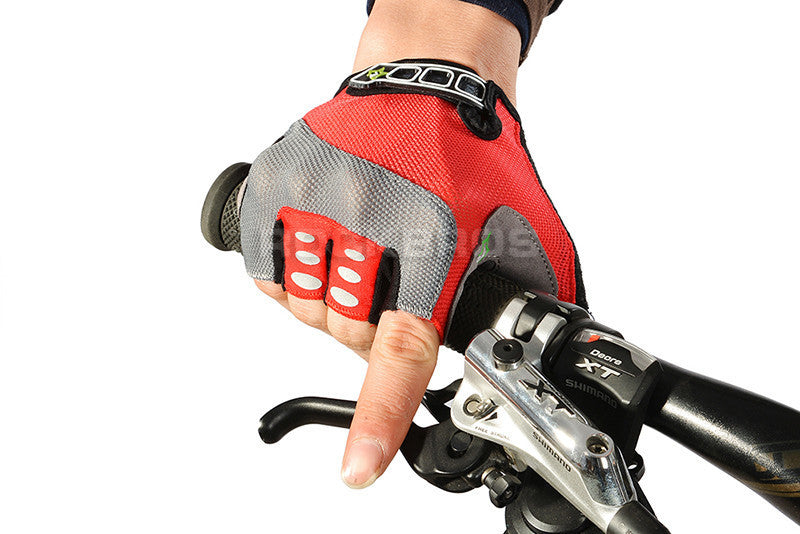 RockBros Non-Slip Breathable Bike Gloves Mens Women's Summer Bicycle Short Gloves Cycling Cycle Gel Pad Short Half Finger Gloves