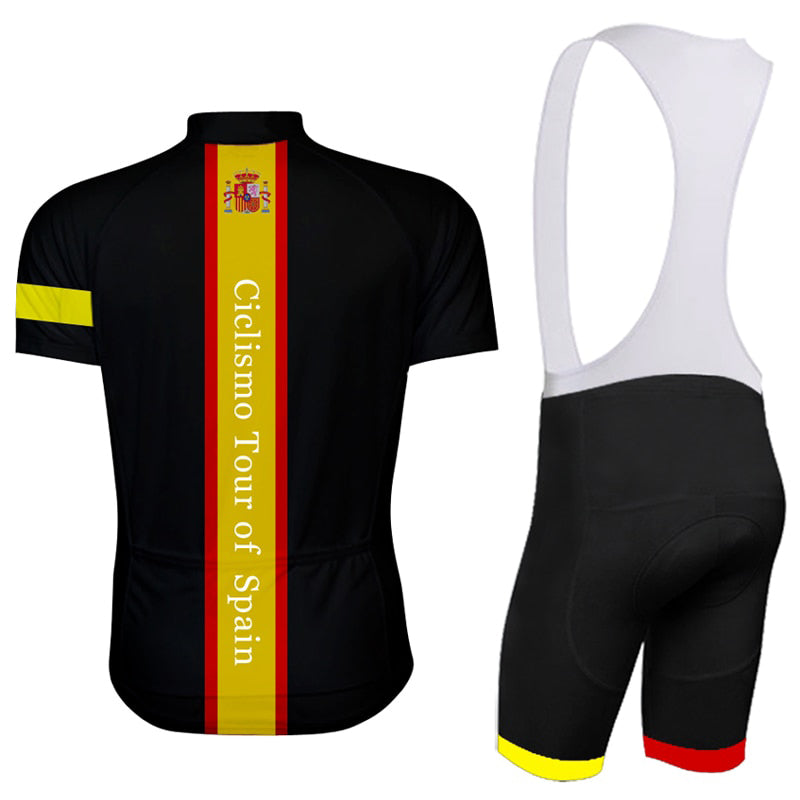 Spain 2018 black cycling jersey wear