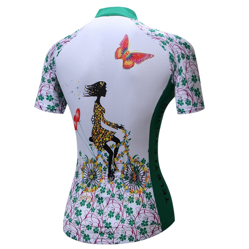27317befe ... TELEYI Women Bicycle Cycling Jersey Mtb Cycling Clothing Top Maillot  Roupa Ciclismo Bike Outdoor Breathable ...