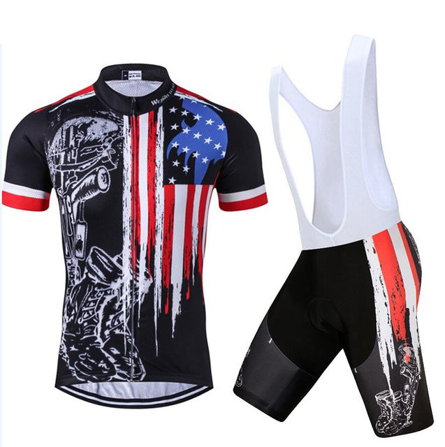 USA Skull Bike Jersey set