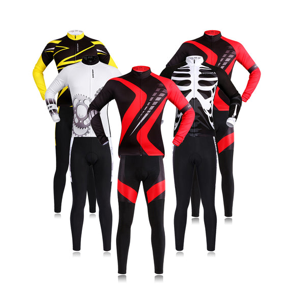 WOSAWE Pro Long Sleeve Cycling Jersey Sets Breathable 3D Padded Sportswear Mountain  Bicycle Bike Apparel Cycling ... 5eca16908