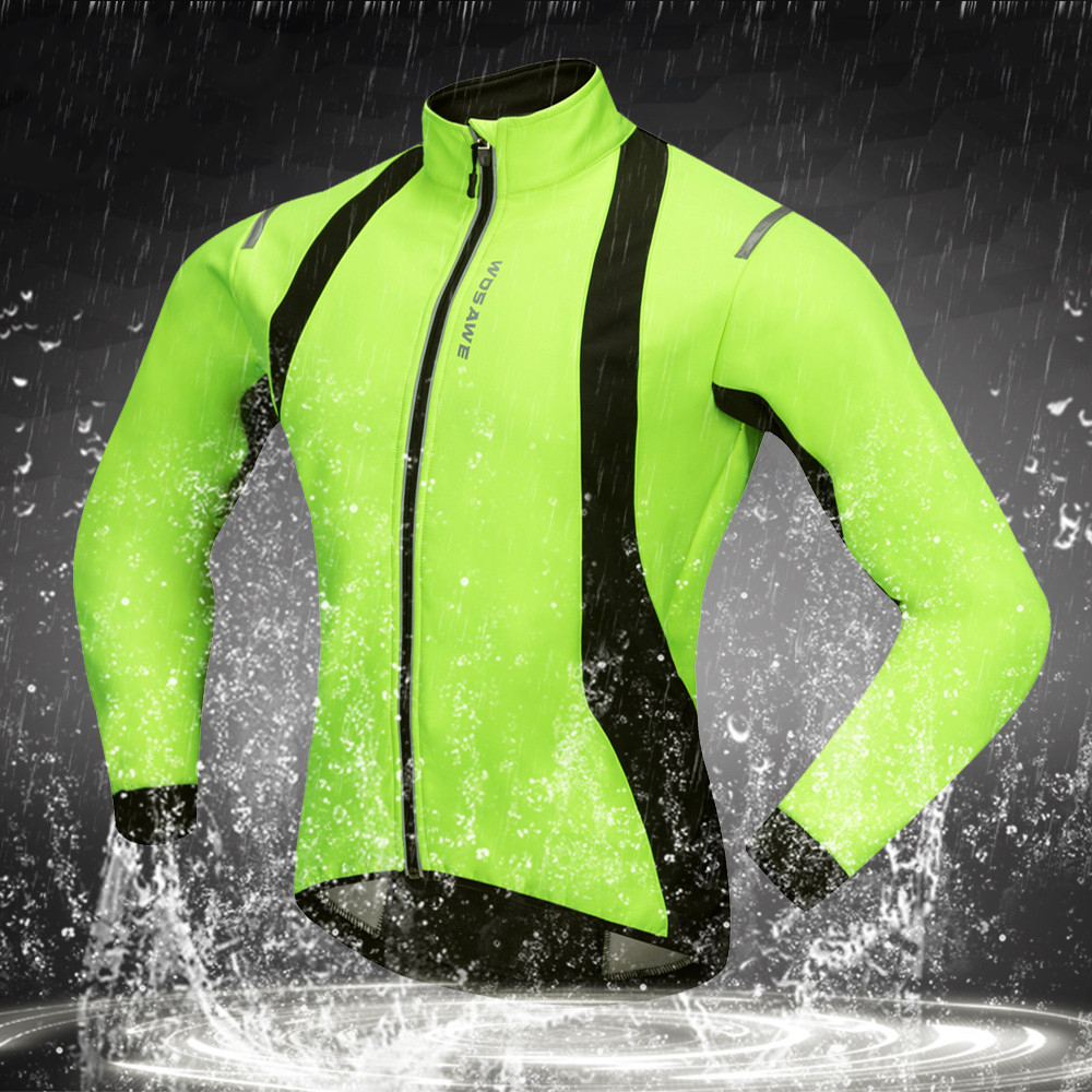 a95d0b11f Waterproof Reflective Thermal Fleece Cycling Jackets