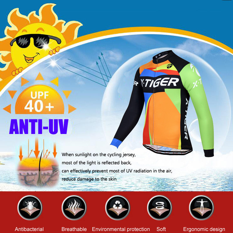 X-Tiger Brand 2017 Long Sleeve Ropa Ciclismo Cycling Jerseys/Autumn Mountain Bicycle Clothing/Racing Bike Clothes For Man