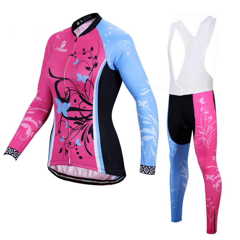 X-Tiger Breathable Autumn Women Cycling Clothing/MTB Bicycle Wear Ropa Ciclismo Long Sleeve cycling Clothes Cycling Jersey Set