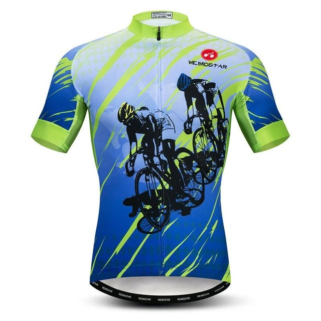 Cycling Jersey Top Men Short Sleeve Team Sport