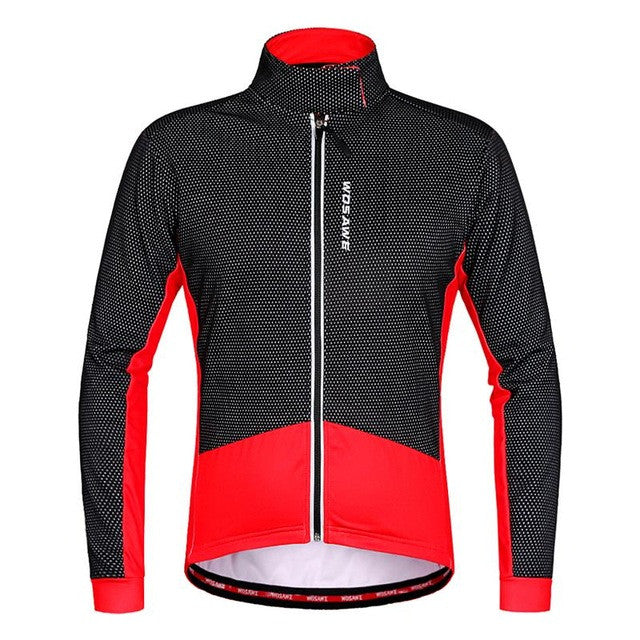 WOSAWE Thermal winter Cycling jackets men velvet collar Clothing Windproof ropa ciclismo Coat MTB Reflective Cycling Jackets