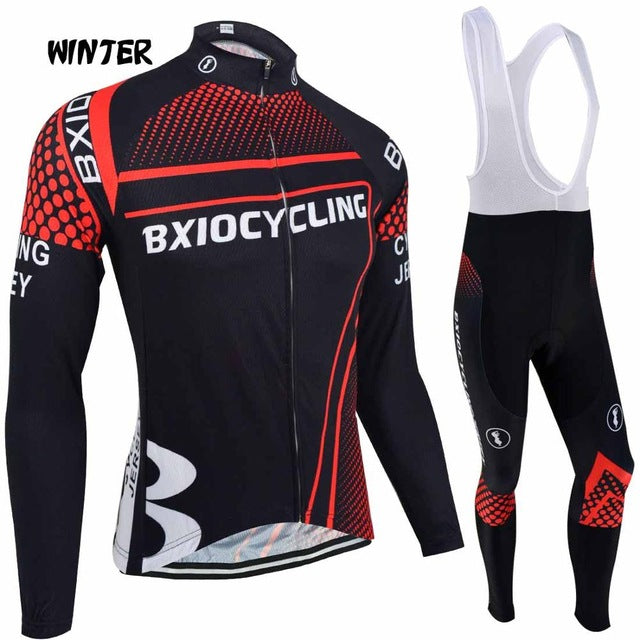 Thermal Fleece Cycling Clothing Sets