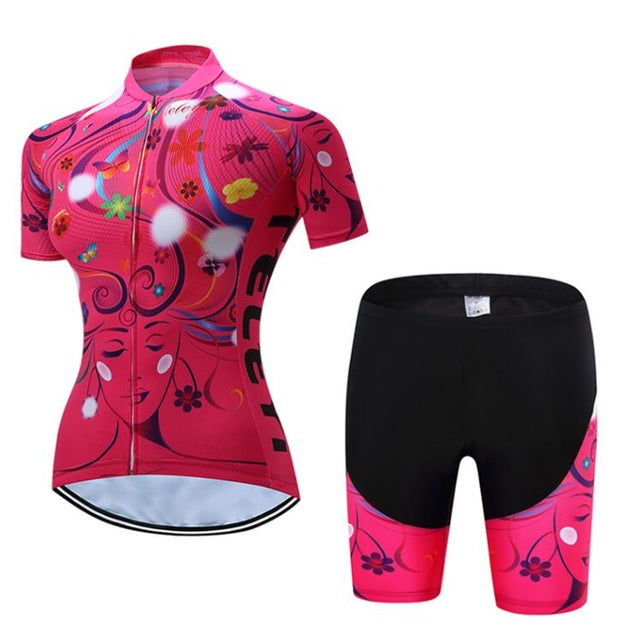 bac623583 Women s Cycling Clothing Short Sleeve Jersey and Padded Cycling Shorts Sets