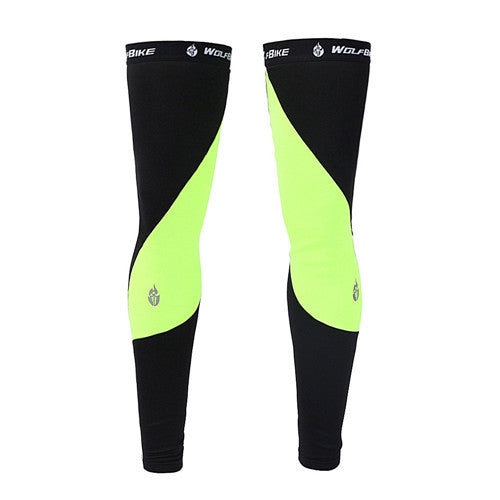 WOSAWE Unisex Thermal Fleece Cycling Leg Warmers Winter Windproof Mountain Road Bike Ciclismo Bicycle Cycle Riding Leggings