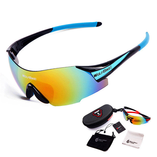 WOSAWE UV400 Cycling Glasses Women's Men's Outdoor Sports Bike Bicycle Windproof Sunglasses 3 Colors 1 Lens with original box
