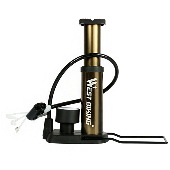 Foot Activated Floor Pump With Gauge