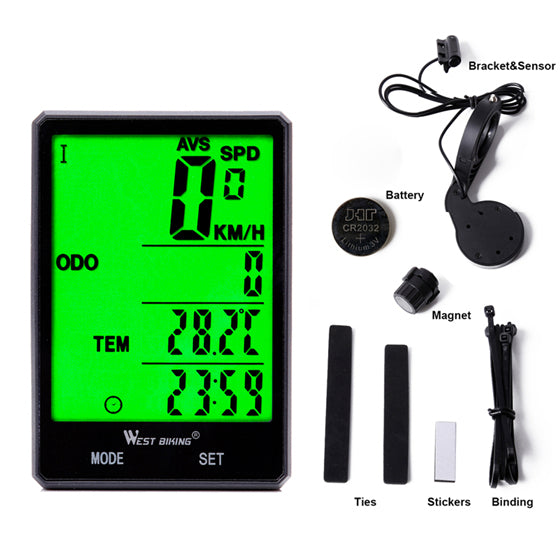 Cycling Wireless and wired Rainproof Speedometer Stopwatch