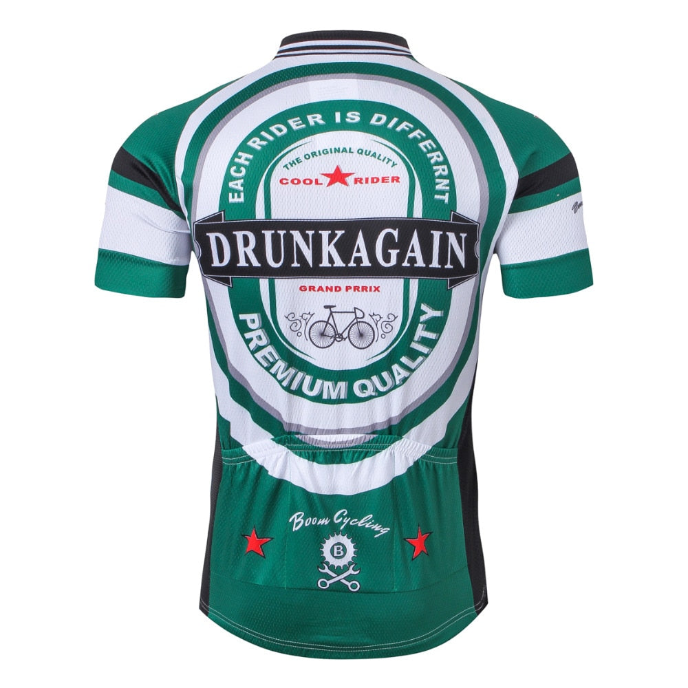 Drunk Again Beer Cycling Jersey Top