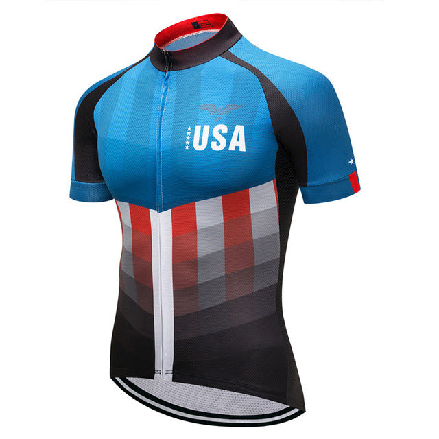 USA Style Breathable Cycling Jersey Sport