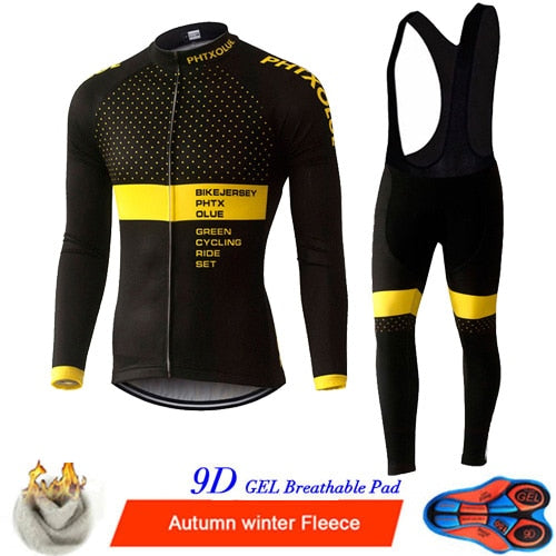 Winter Thermal Fleece Cycling Clothing Set Maillo