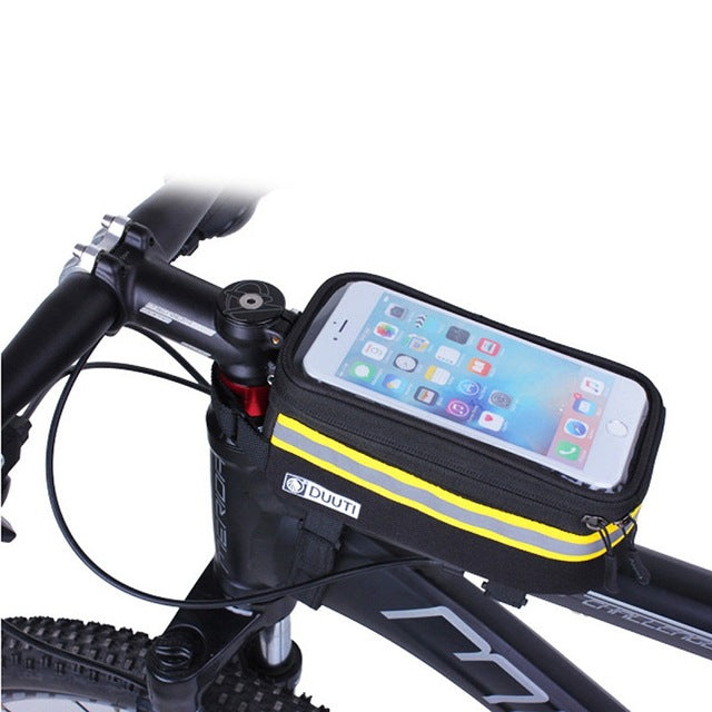 Waterproof Cycling Bicycle panniers Frame Front Tube bags For Cell Phone Holder case