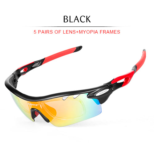 5 in 1 Polarized Cycling Sunglasses Sport (Unisex)