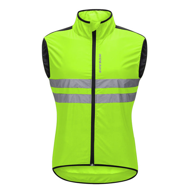 Reflective Cycling Vests Sleeveless Windproof Jersey