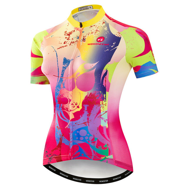Colorful Cycling Jersey Women