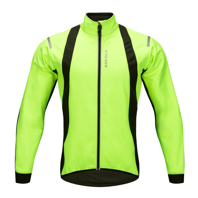 Waterproof Reflective Thermal Fleece Cycling Jackets