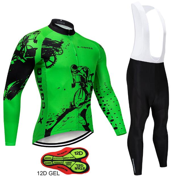 2018 12D Gel Padded Cycling Jersey Sets
