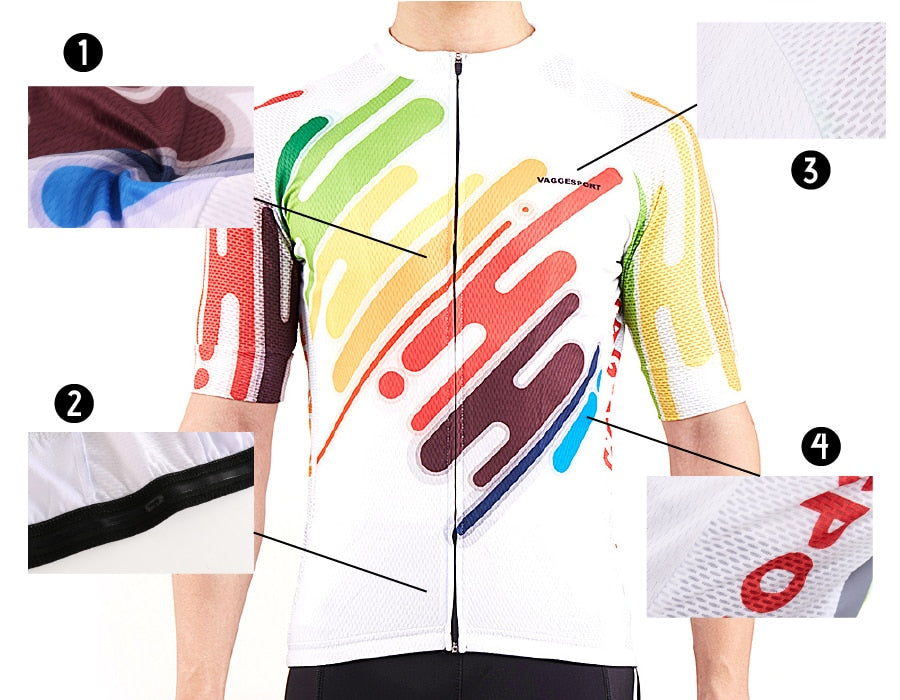 2019 Colorful Unique Cycling Jersey Anti-UV