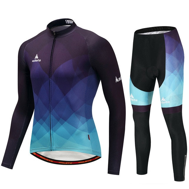 Winter Thermal Fleece Cycling Clothing Set
