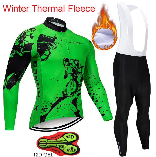 fc855812b5c Winter Thermal Fleece Long Sleeve Cycling Jersey Sets