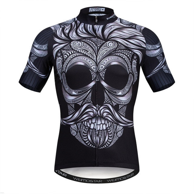3D Skull Cycling Jersey Top