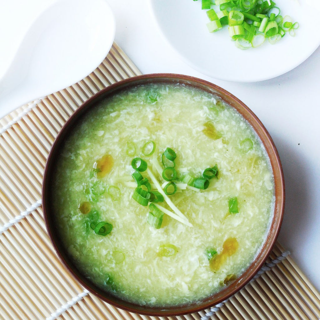 Gingery Egg Drop Soup With Greens