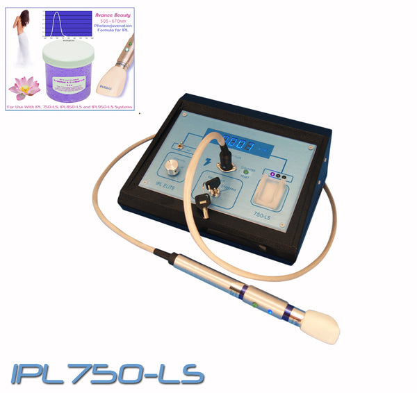 IPL750 Photorejuvenation System 505-670nm Beauty Treatment Kit Including Machine, Instructions