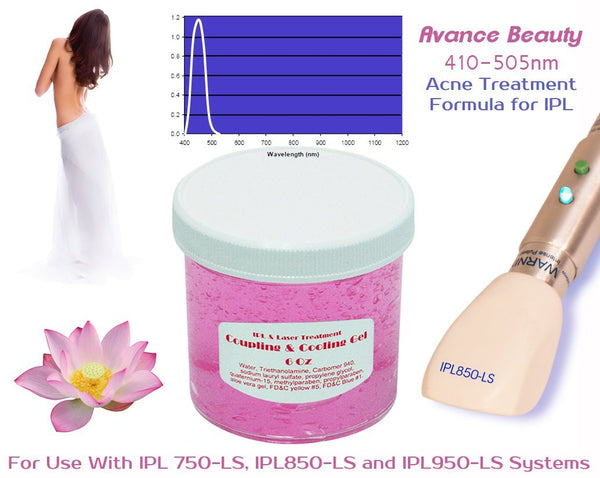 Acne Formula 400-505nm Filter Cooling and Coupling Gel Laser and IPL Permanent Hair Removal Systems