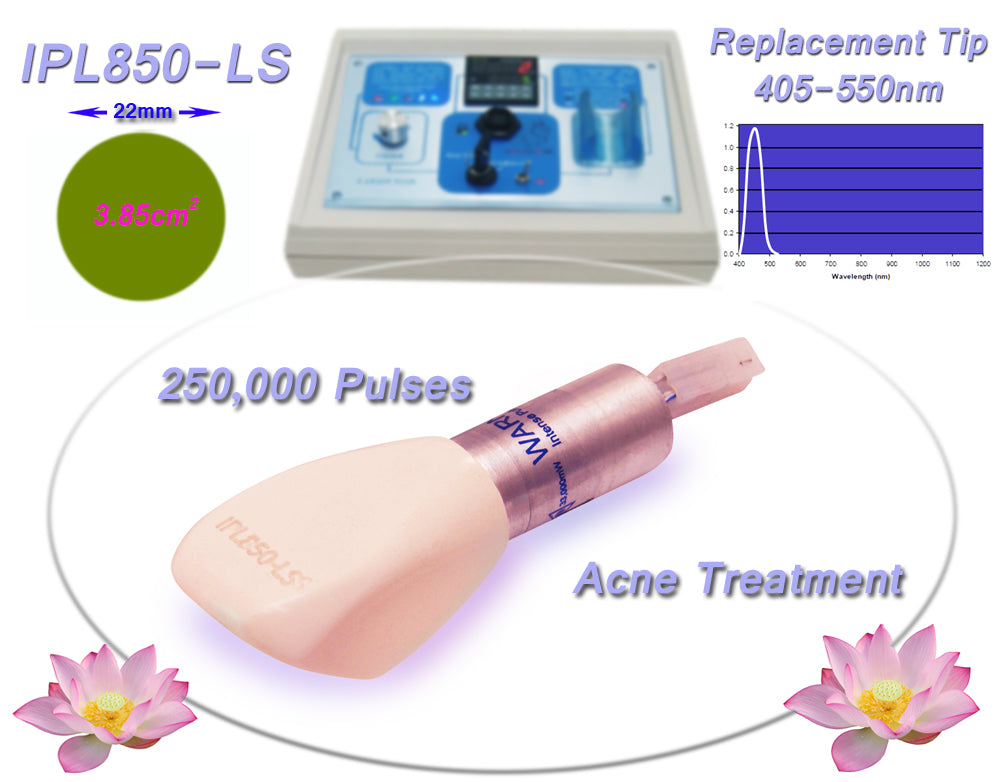 IPL850 Tip Acne 400-505nm Filtered Replacement Tip for Beauty Treatment Machine, System