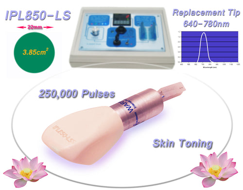 Toning & Tightening 640-780nm Filtered Tip for Beauty Treatment Equipment, Machine, System, Device.