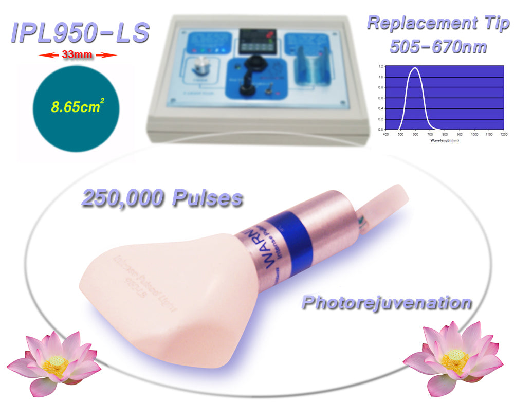 IPL950 Photorejuvenation Filtered Tip 505-670nm for Beauty Treatment Equipment, Machine, System.