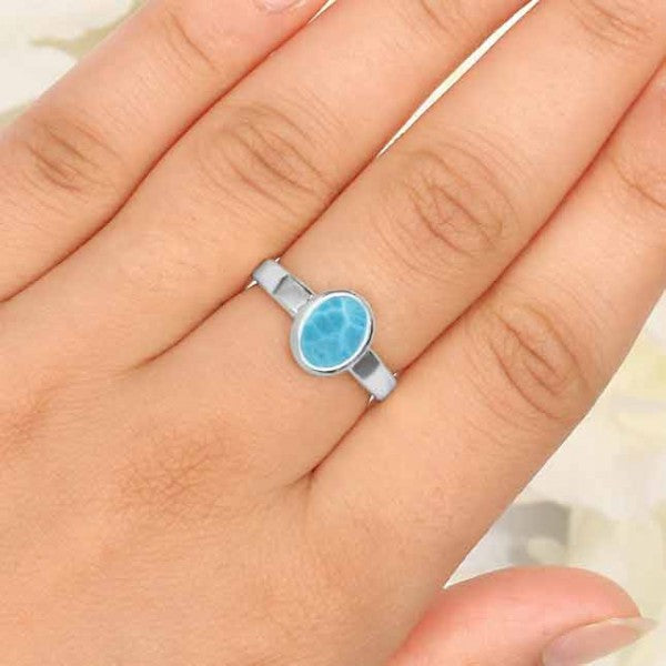 Larimar Oval Ring