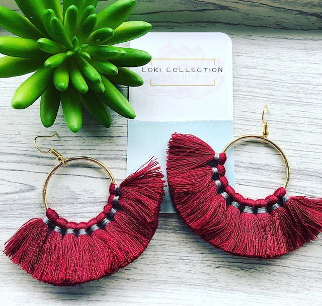 LOKI Collection Fan Tassel Earrings