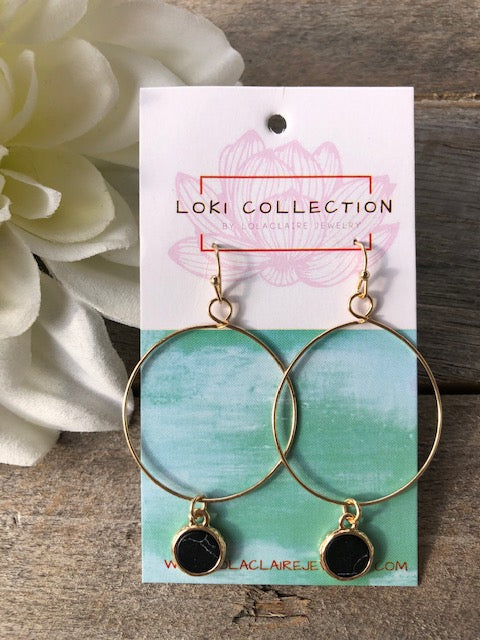 Howlite Hoop Earrings