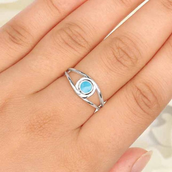 Larimar Double Banded Ring