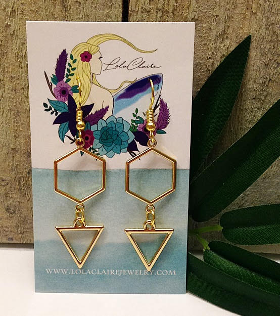 Geo-Drop Earrings