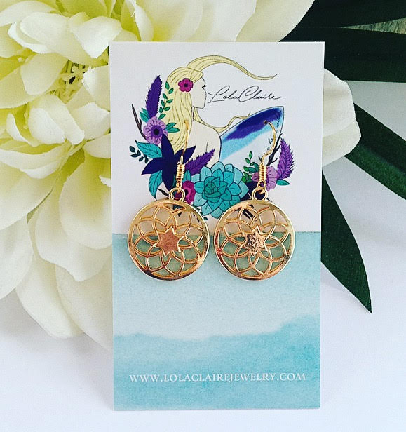 Star Orb Earrings