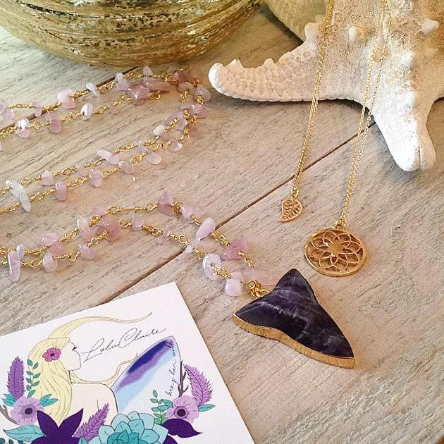 Amethyst Arrow Pendant Necklace