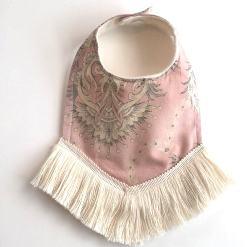 Dusty Pink Dribble Bib