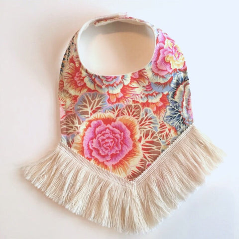 Cabbage Floral Dribble Bib
