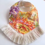 Yellow Floral Dribble Bib