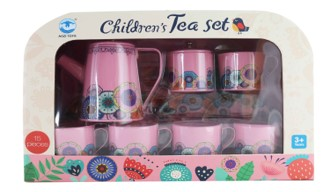 FLORAL TIN TEA SUITCASE- (OUT OF STOCK)