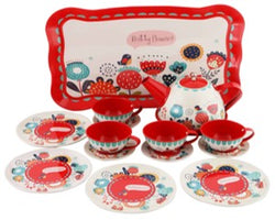 RED FLORAL TEA SET (OUT OF STOCK)