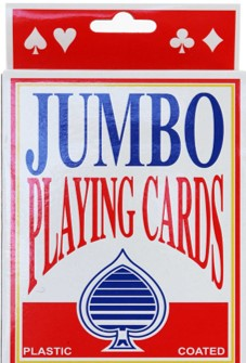 JUMBO PLAYING CARDS (out of stock)
